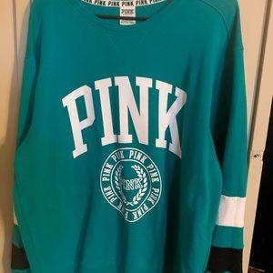 VS PINK beautiful teal sweater.
